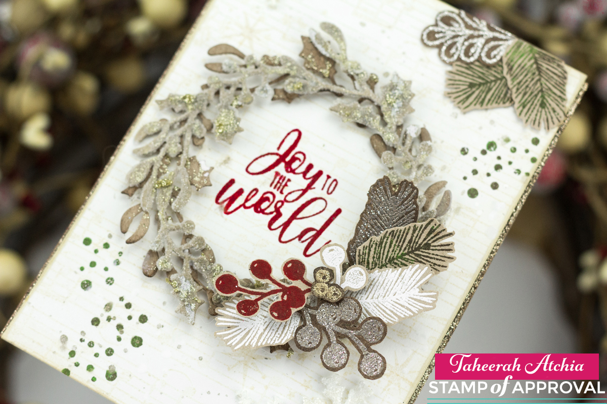 Joy To The World Wreath Card by Taheerah Atchia