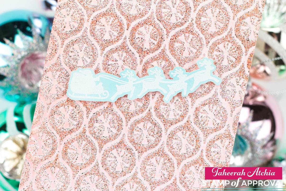 Shimmery Pastel Santa Card by Taheerah Atchia