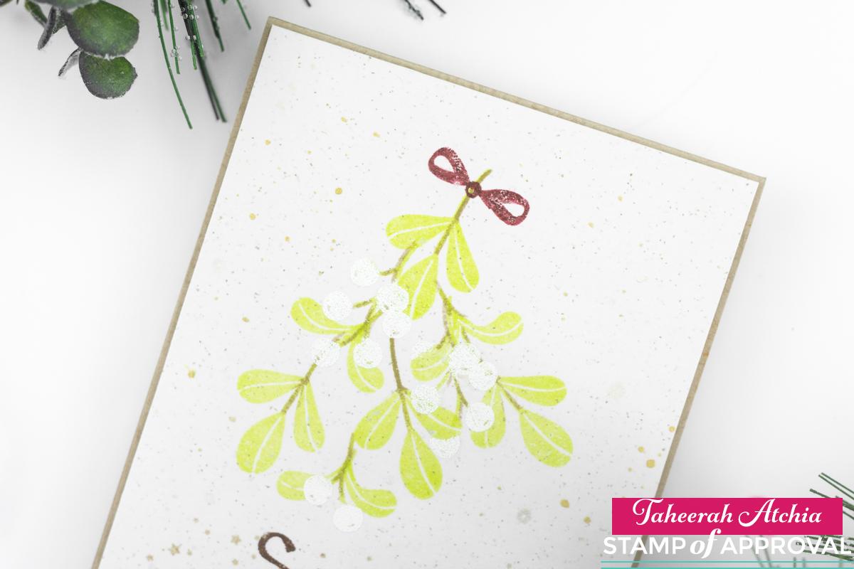 Snow And Mistletoe Christmas Card by Taheerah Atchia