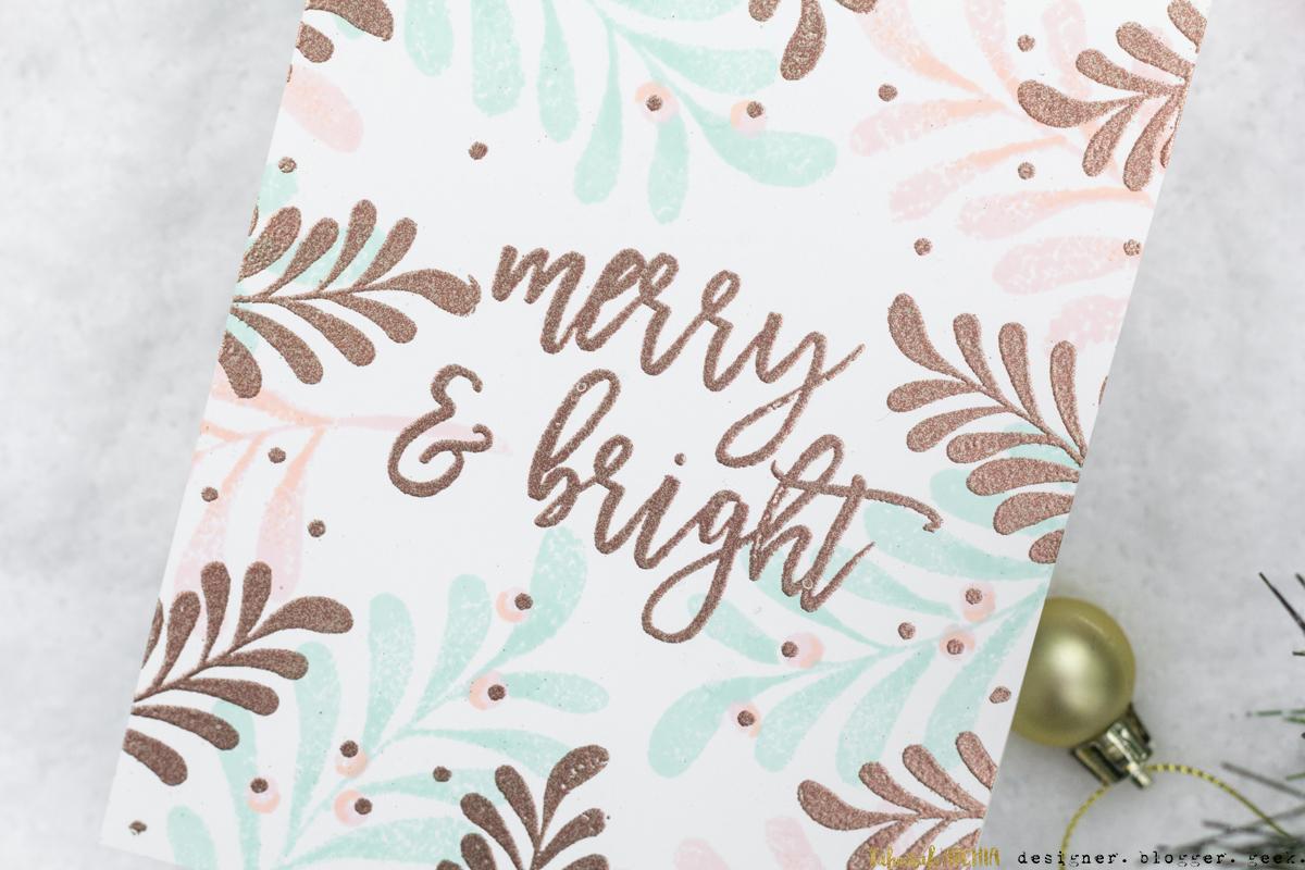 Merry & Bright Mistletoe Christmas Card by Taheerah Atchia