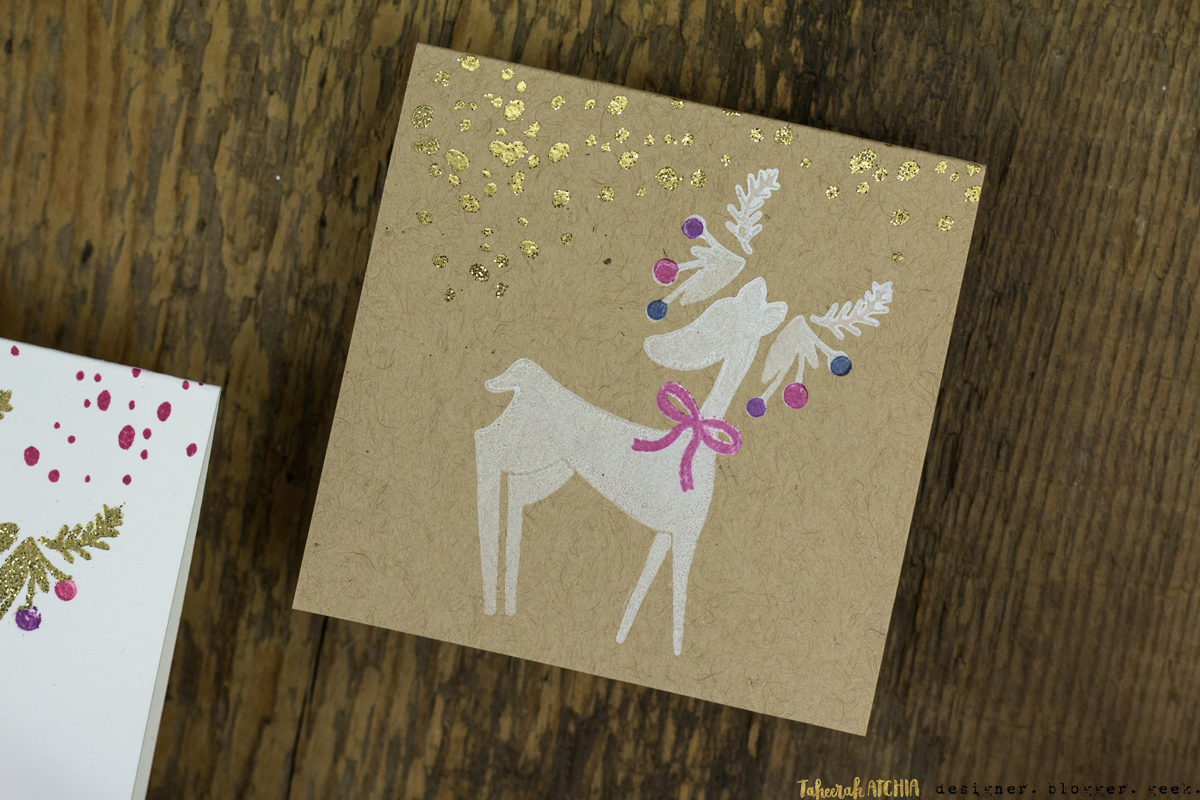 Mini Reindeer Christmas Cards by Taheerah Atchia
