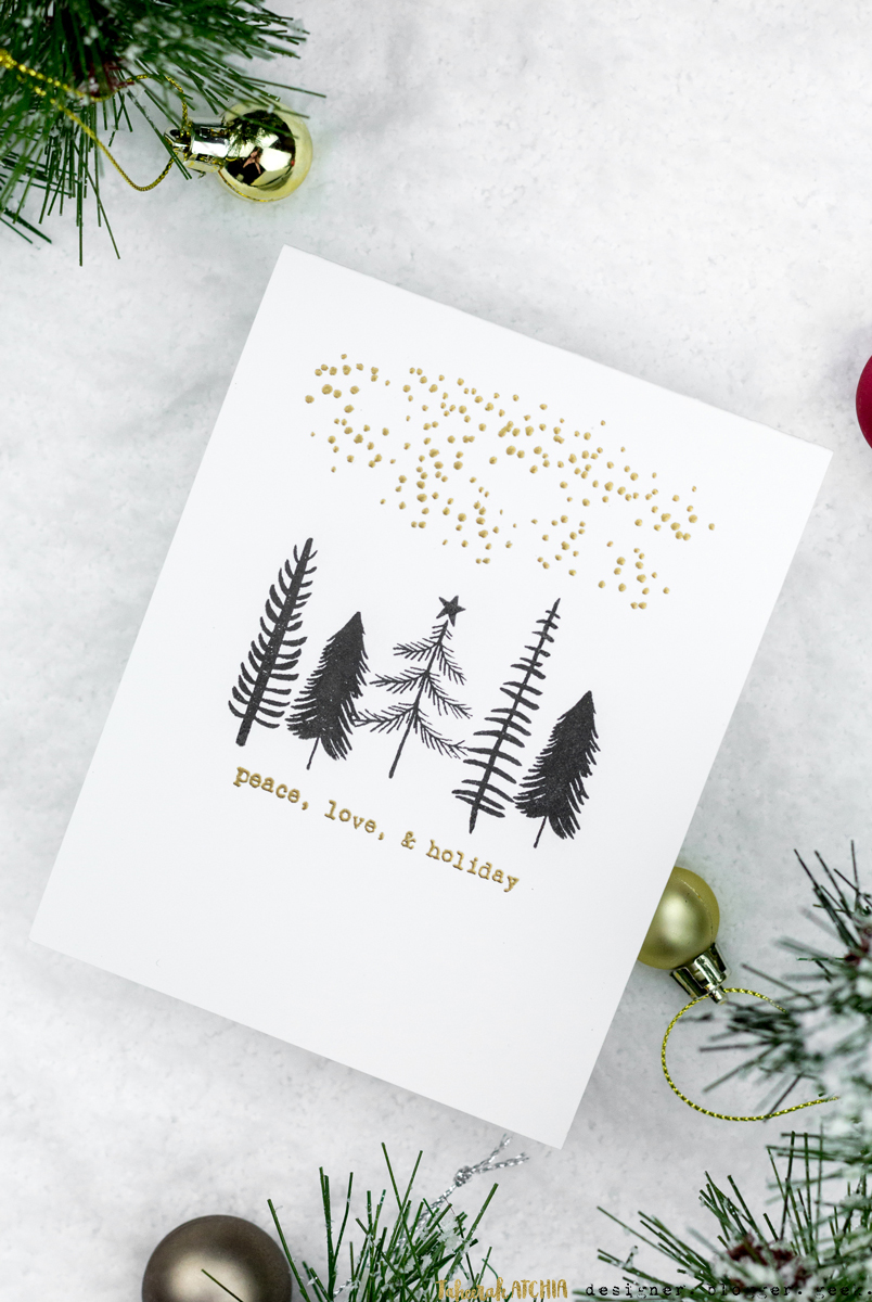 Peace, Love, & Holiday Christmas Card by Taheerah Atchia