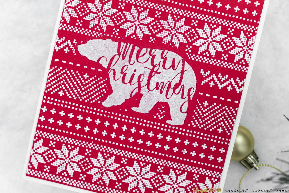 Polar Bear Sweater Christmas Card by Taheerah Atchia