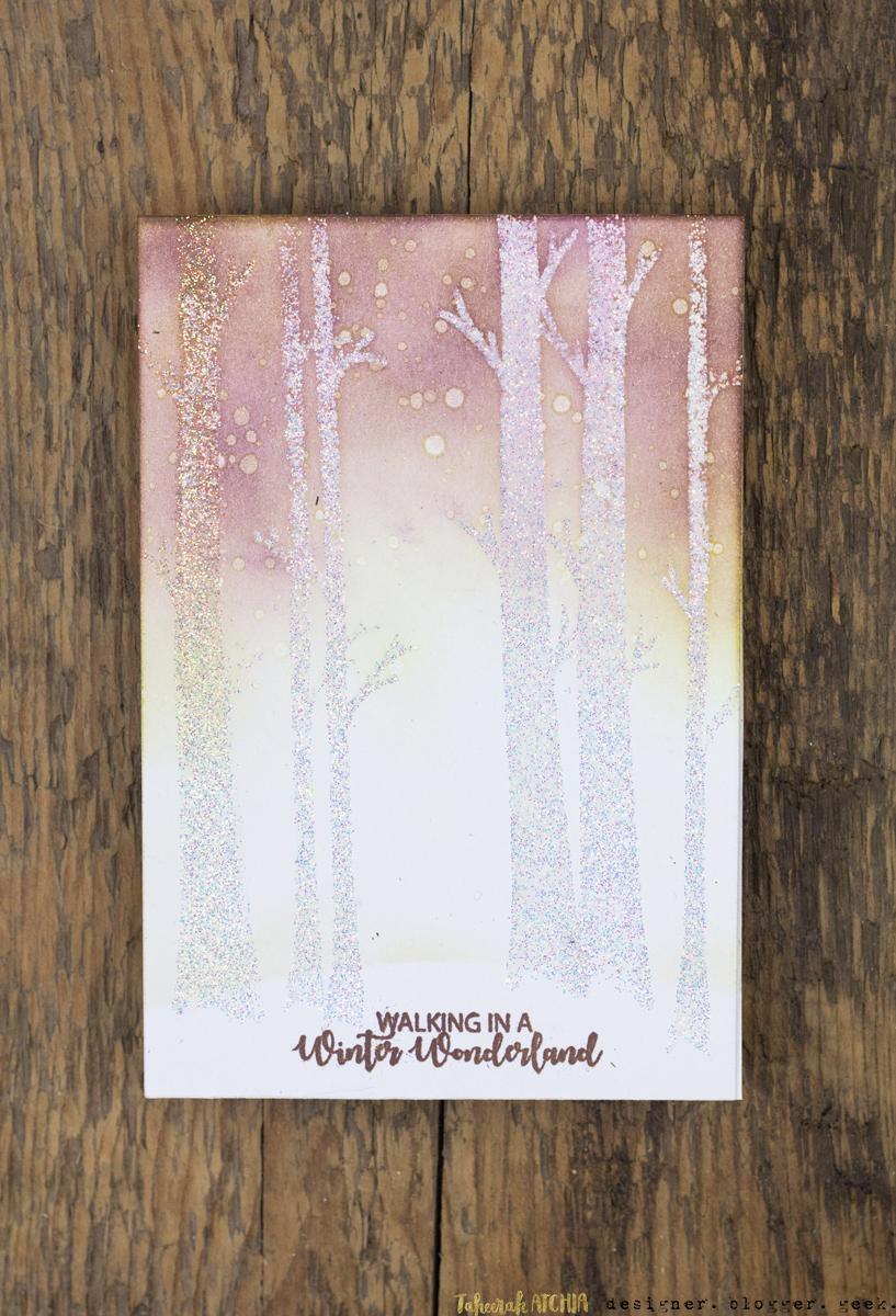 Winter Wonderland Christmas Card by Taheerah Atchia
