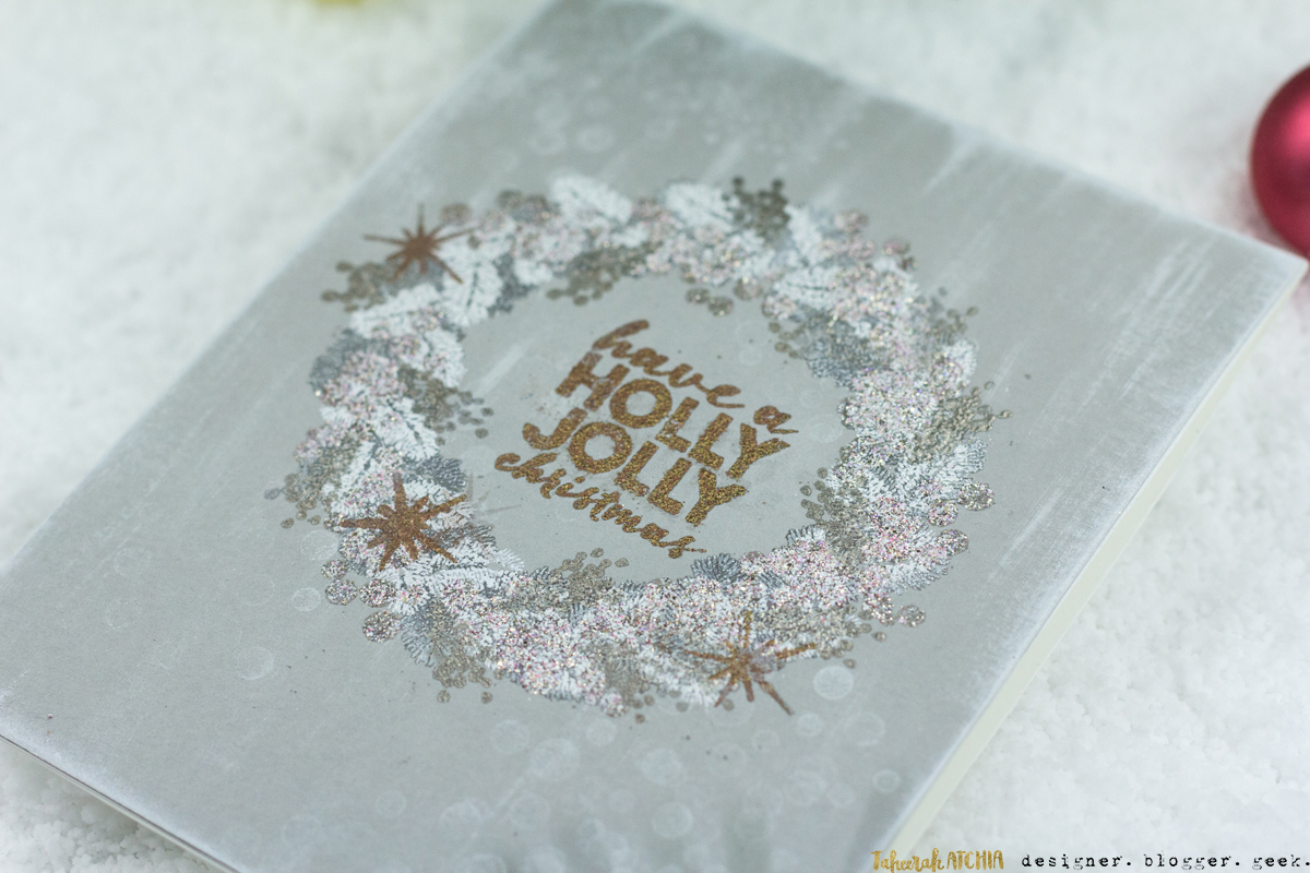 Holly Jolly Christmas Wreath Card by Taheerah Atchia