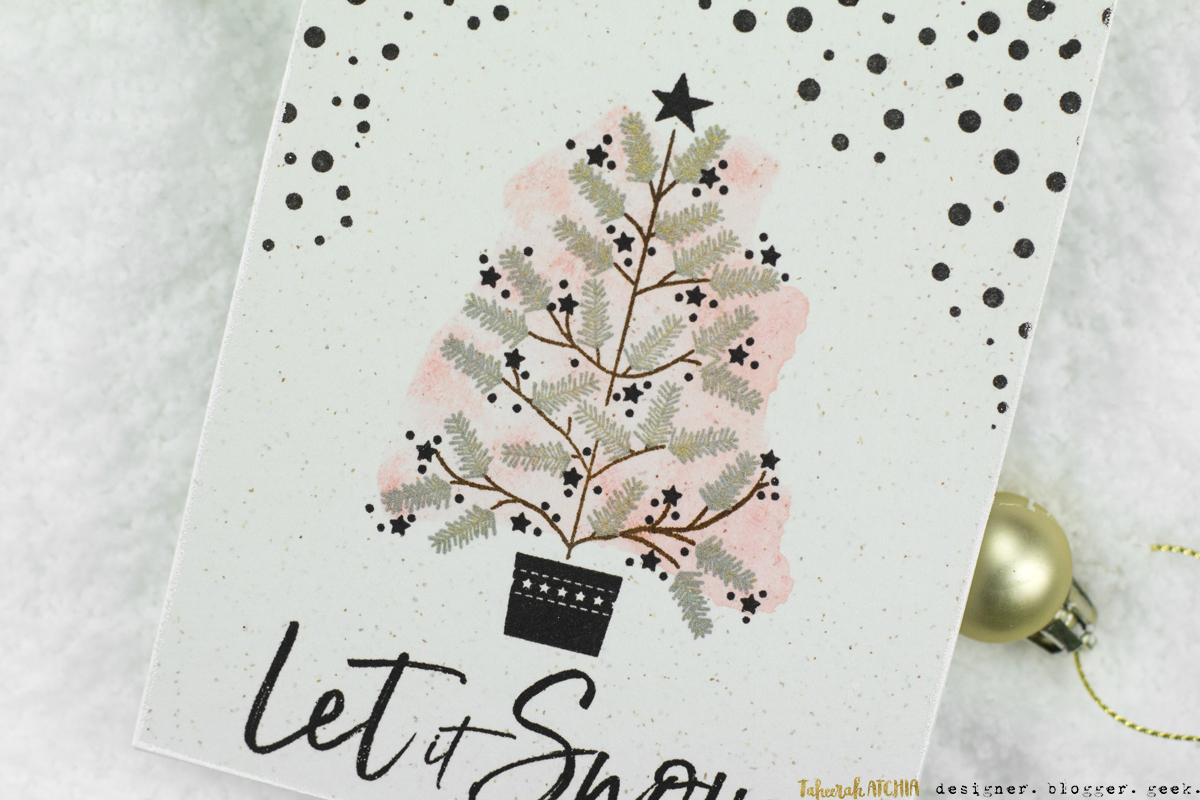 Let It Snow O'Tannenbaum Christmas Card by Taheerah Atchia