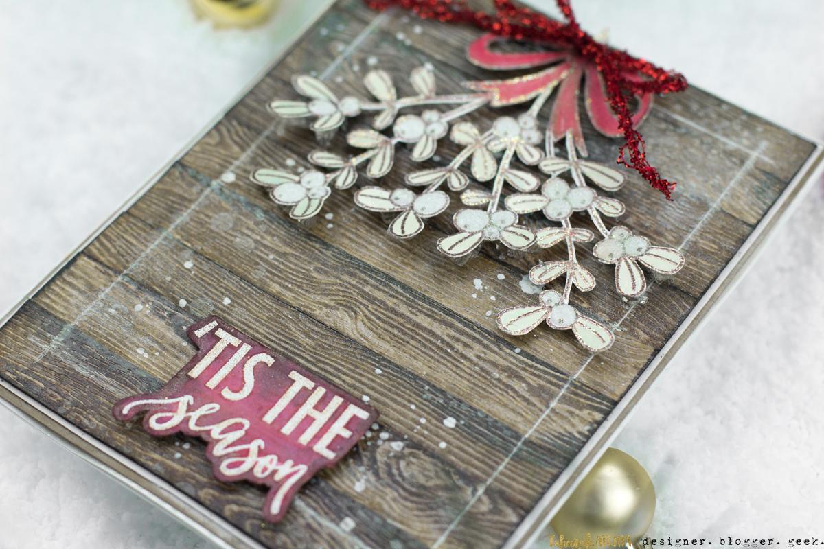 'Tis The Season Mistletoe Christmas Card by Taheerah Atchia