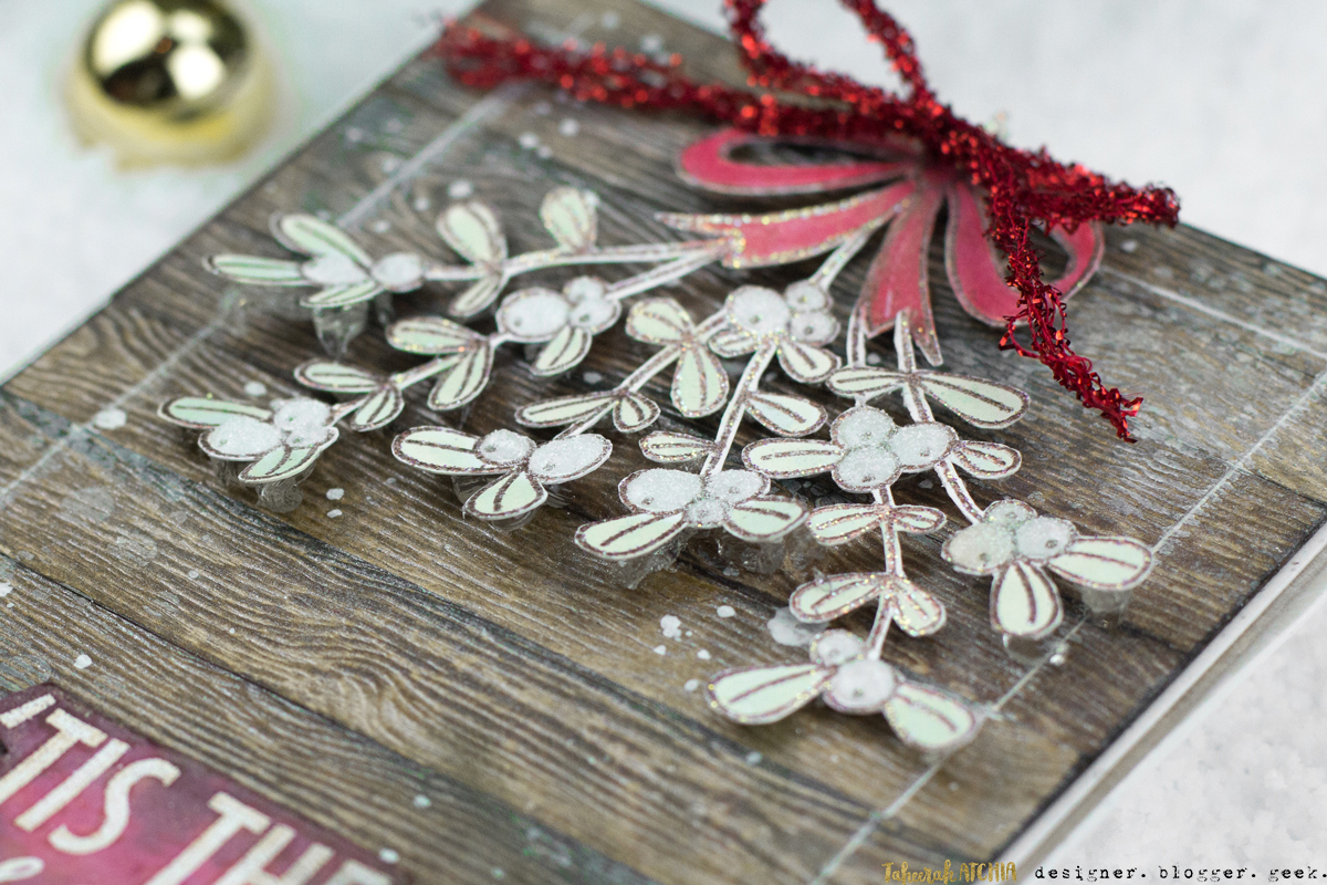 'Tis The Season Mistletoe Christmas Card by Taheerah Atchia