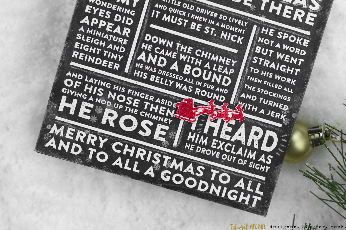 Twas The Night Before Christmas Chalkboard Card by Taheerah Atchia