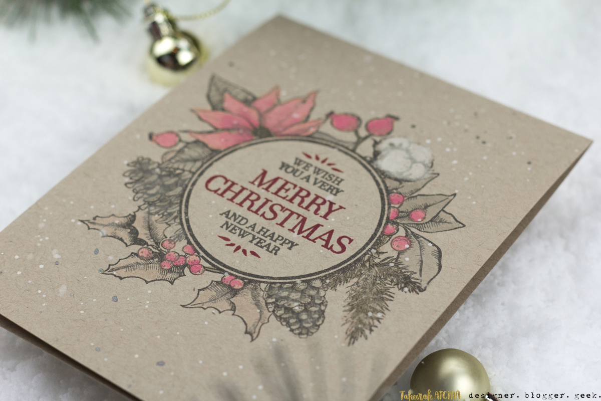 Vintage Merry Christmas Card by Taheerah Atchia