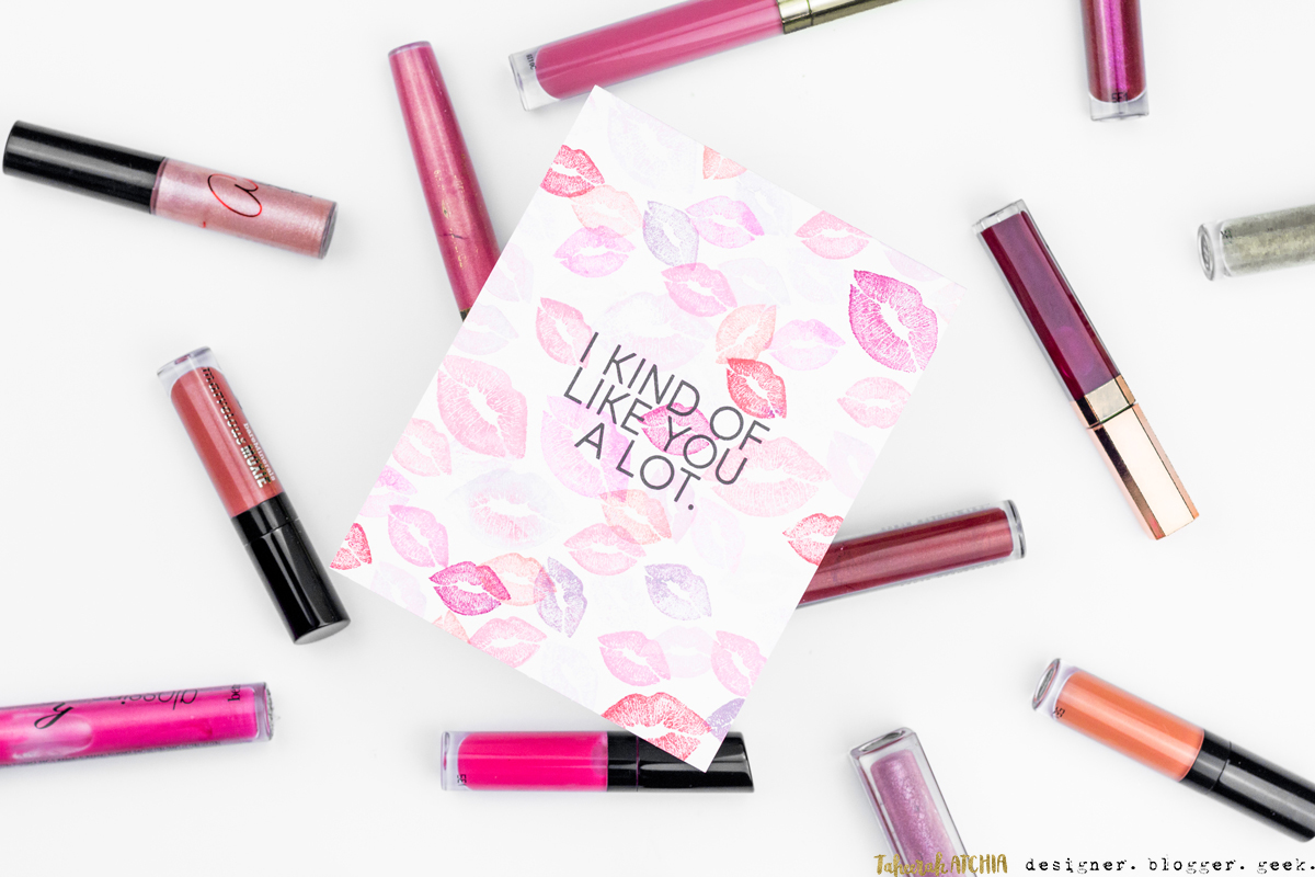 I Kind Of Like You A Lot Lips Card by Taheerah Atchia