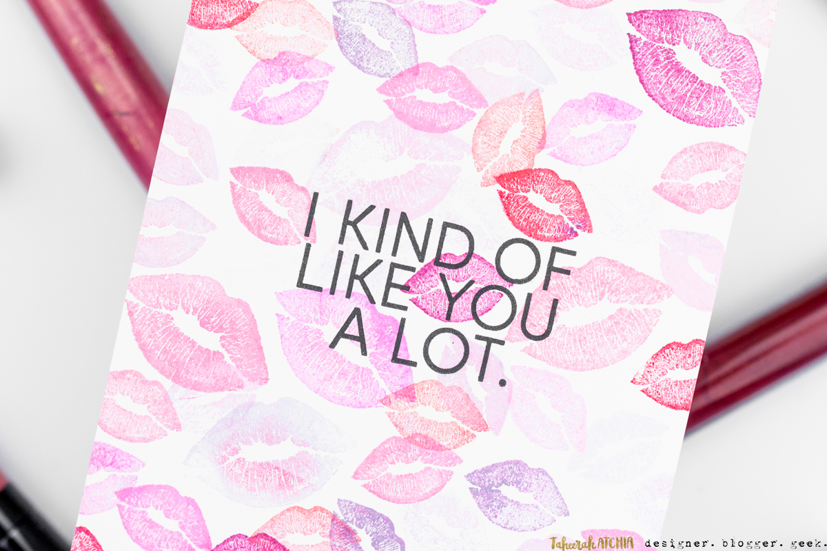 I Kind Of Like You A Lot Lips Card by Taheerah Atchia