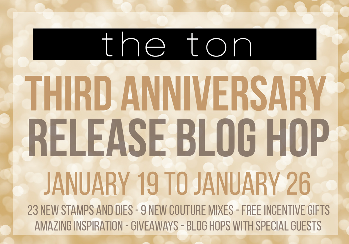 The Ton 3rd Anniversary Blog Hop Graphic