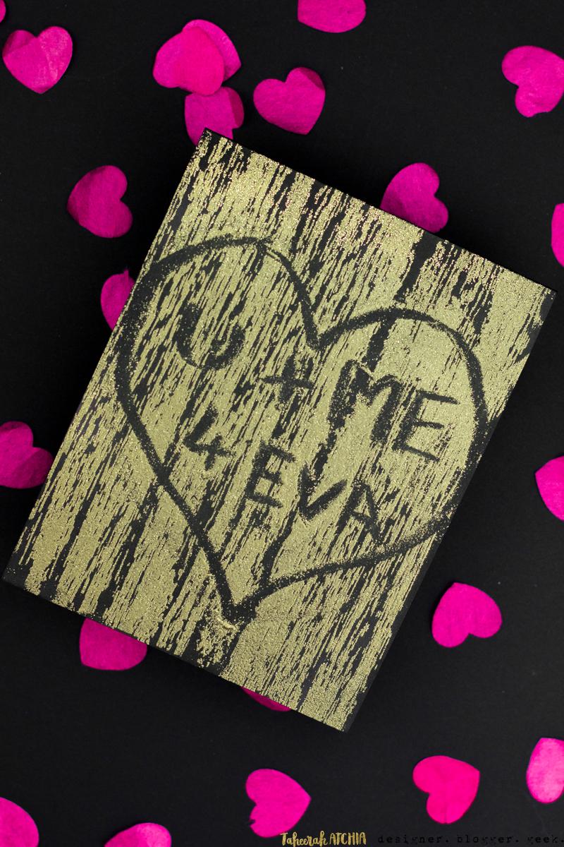 U + Me 4 Eva Carved Tree Card by Taheerah Atchia