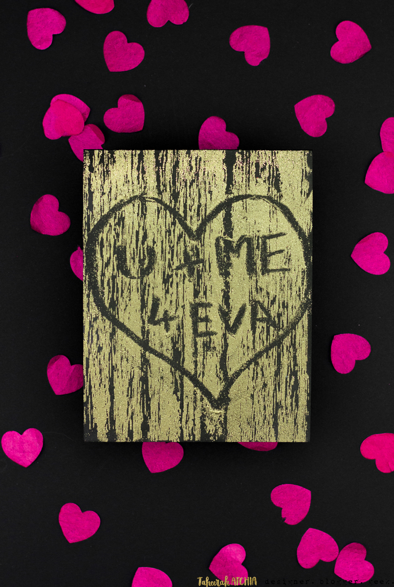 U + Me 4 Eva Carved Tree Card by Taheerah Atchia