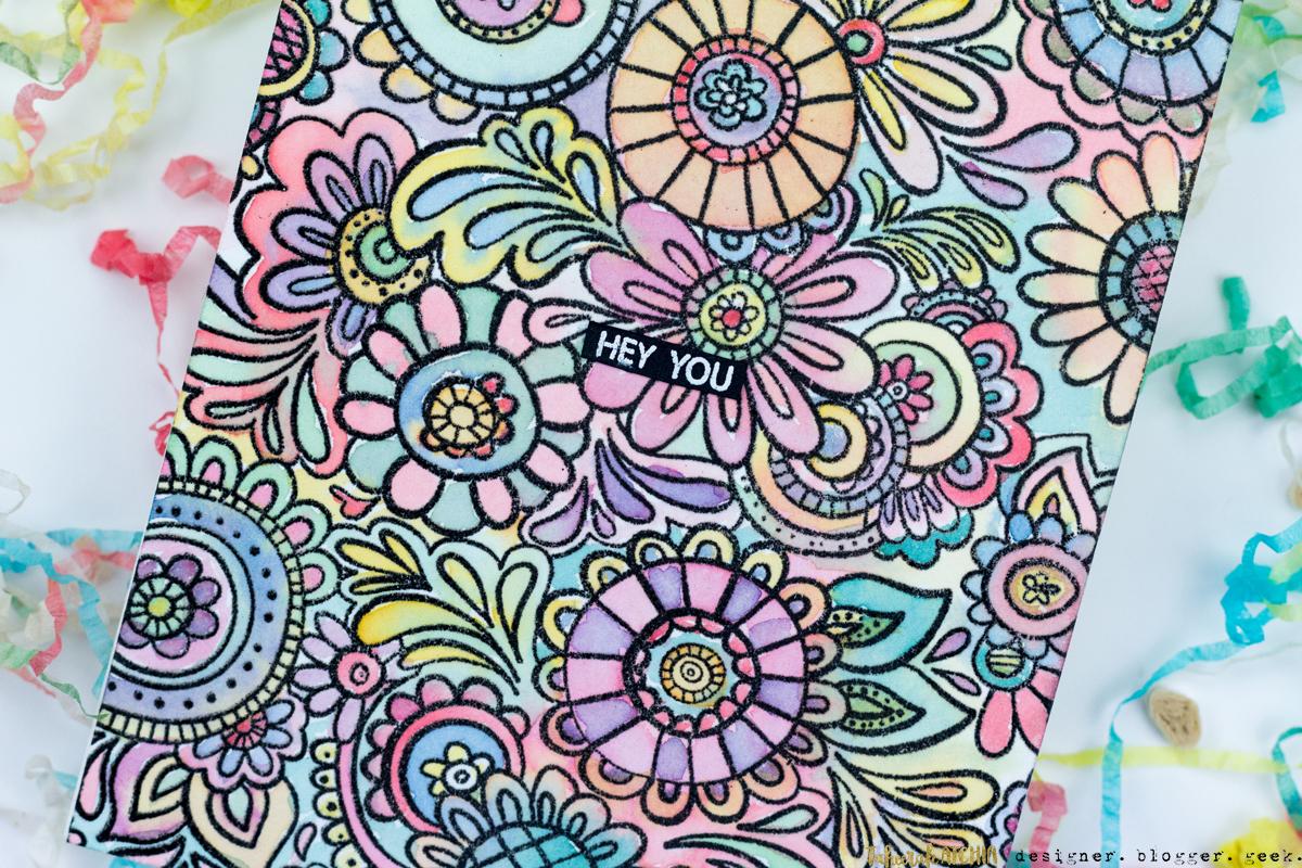Hey You Doodle Flowers Card by Taheerah Atchia
