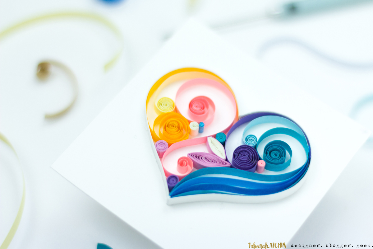 Quilled Heart Panel by Taheerah Atchia