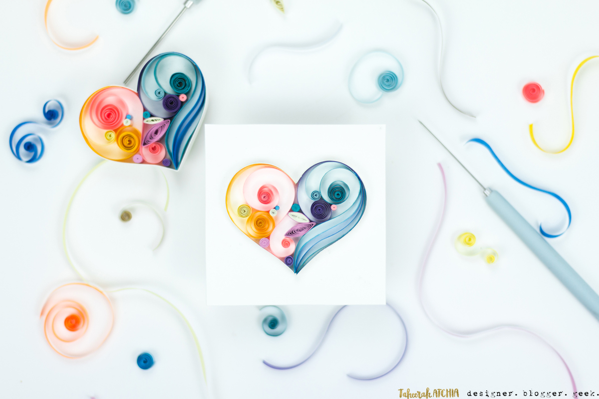 Quilled Hearts by Taheerah Atchia