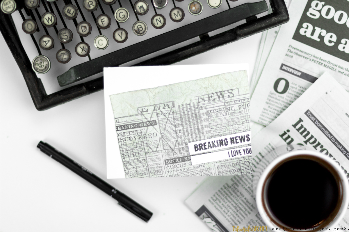 Breaking News - I Love You Newspaper Card by Taheerah Atchia