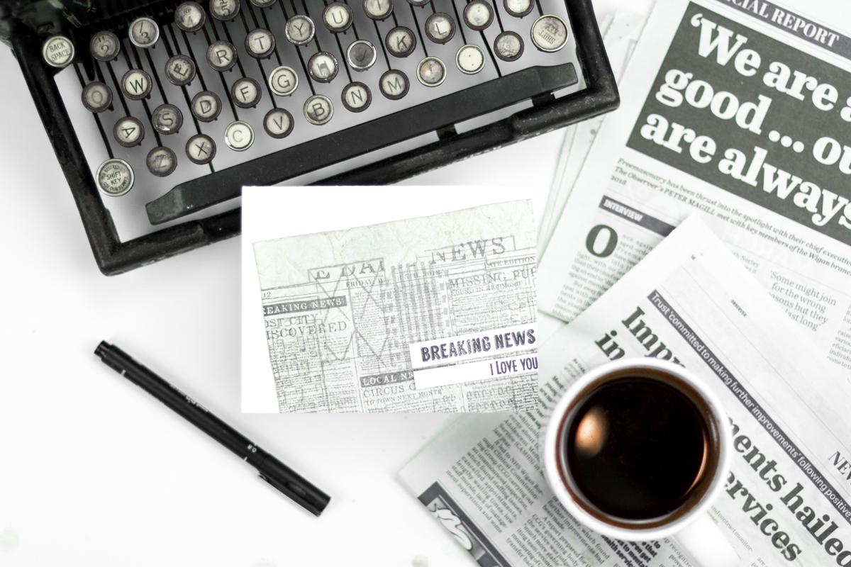 Breaking News - I Love You Newspaper Card