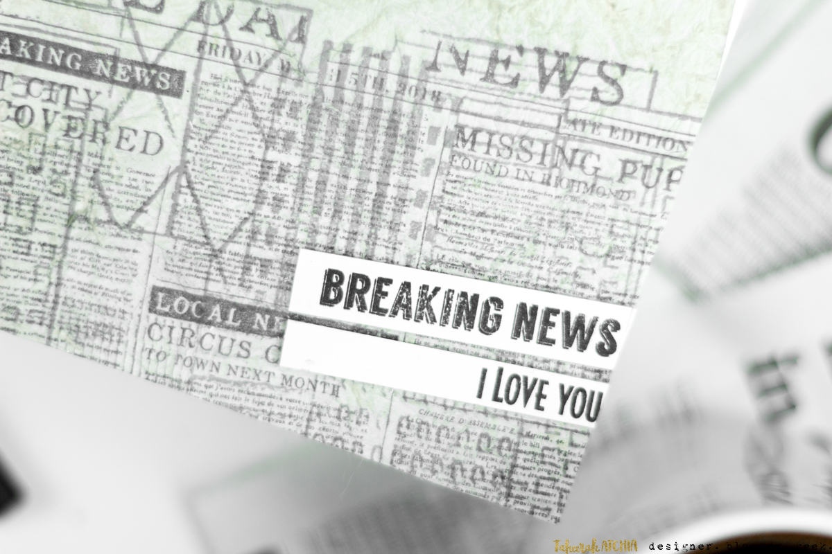 Breaking News - I Love You Newspaper Card by Taheerah Atchia