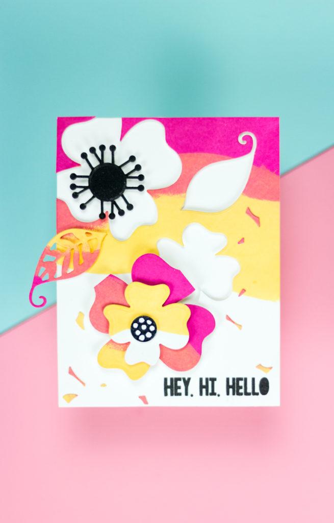 Hey Hi Hello Flowers Card by Taheerah Atchia