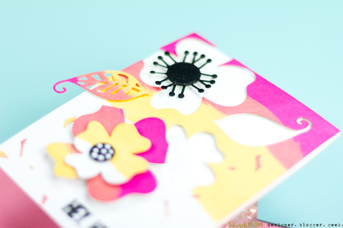 Hey Hi Hello Flowers Card by Taheerah Atchia