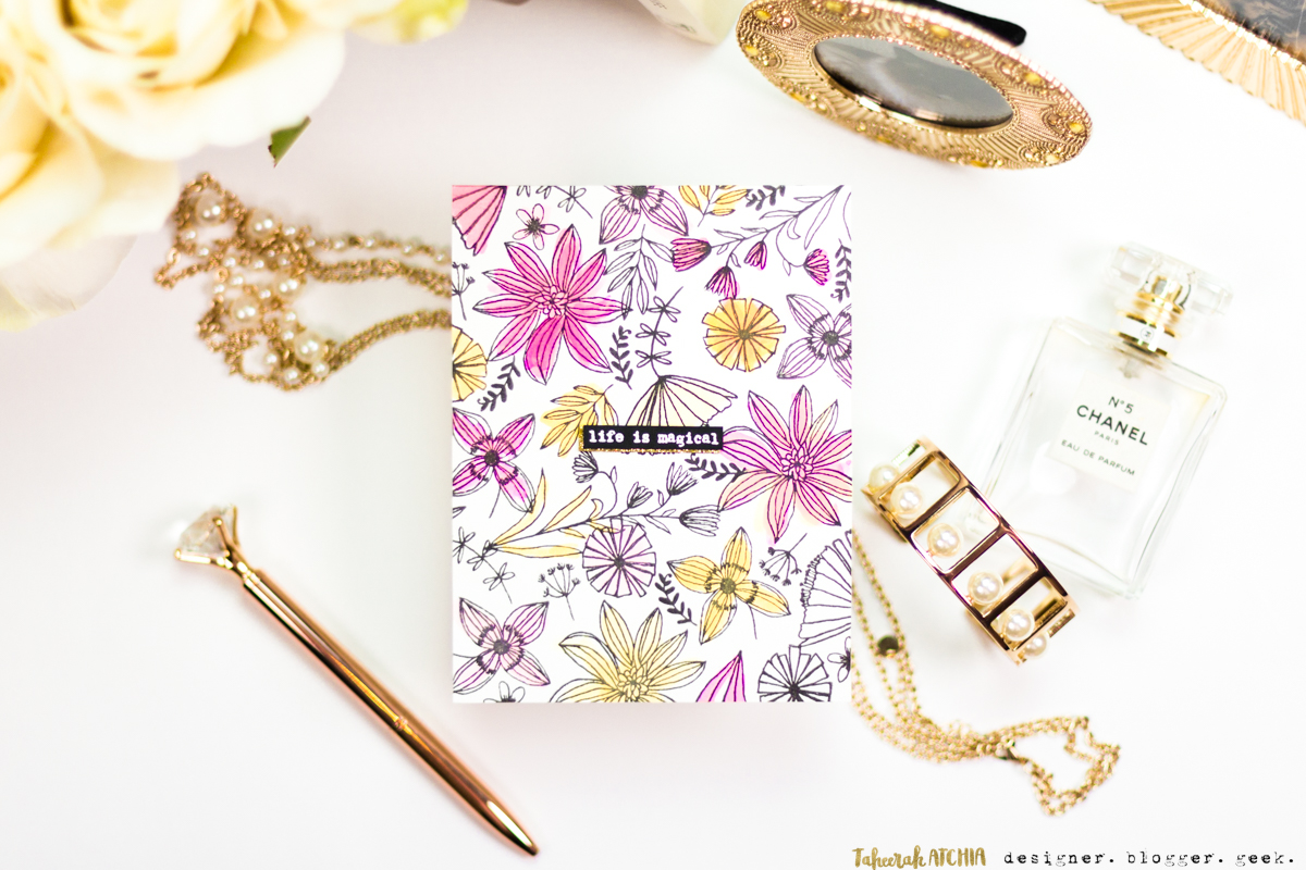 Life is Magical Floral Card by Taheerah Atchia