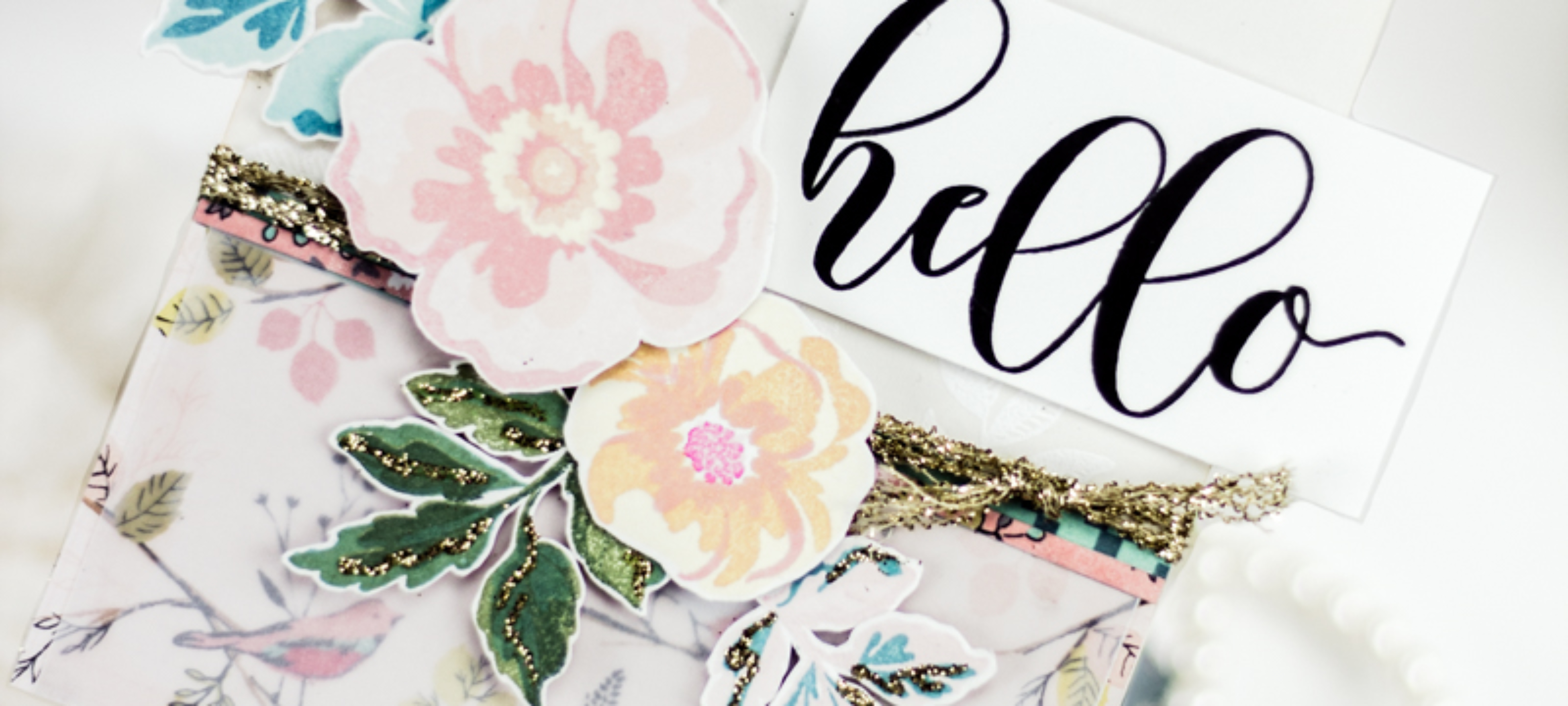 Vintage Floral Hello Card - And Some Tips for Vintage Designs