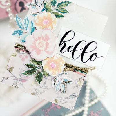 Vintage Floral Hello Card by Taheerah Atchia