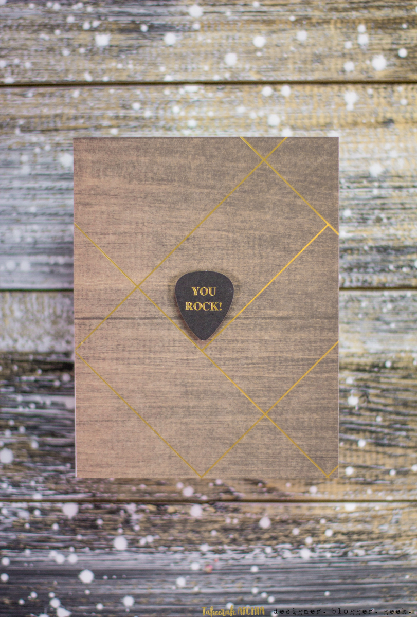 Spellbinders May Card Kit of The Month Cards - You Rock Card by Taheerah Atchia