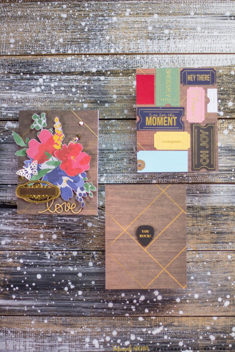 Spellbinders May Card Kit of The Month Cards by Taheerah Atchia