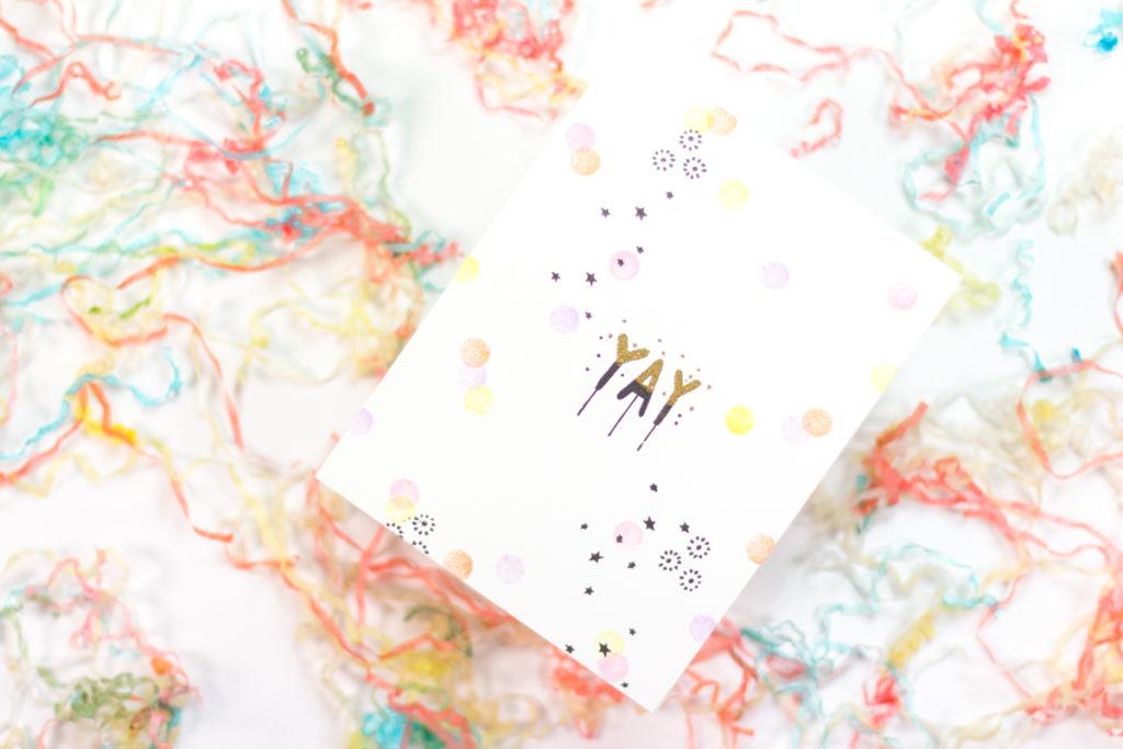 Yay Confetti Card by Taheerah Atchia