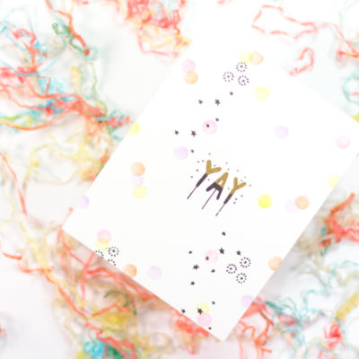 Yay Confetti Card by Taheerah Atchia