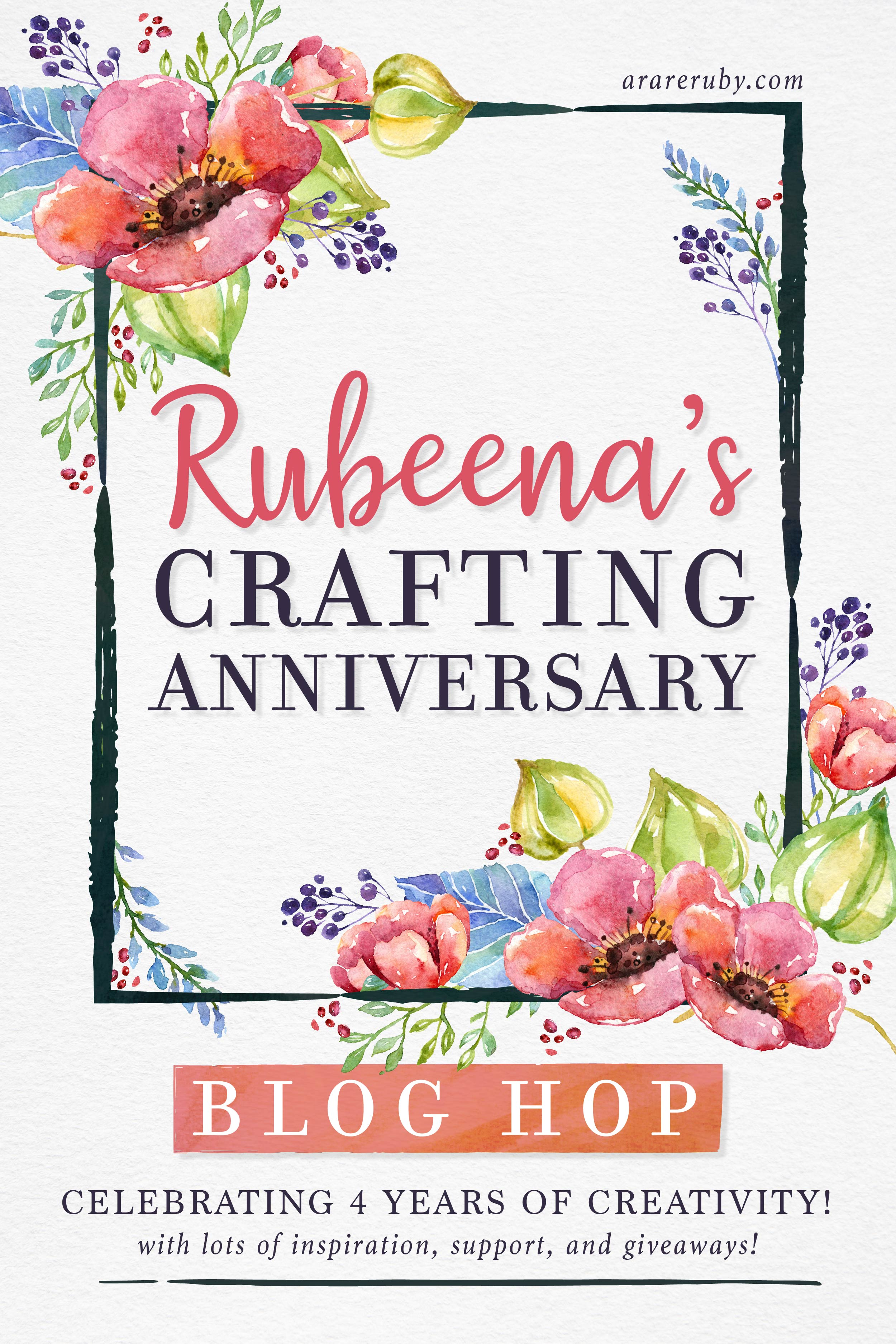 A Rare Ruby Crafting Anniversary Blog Hop Graphic